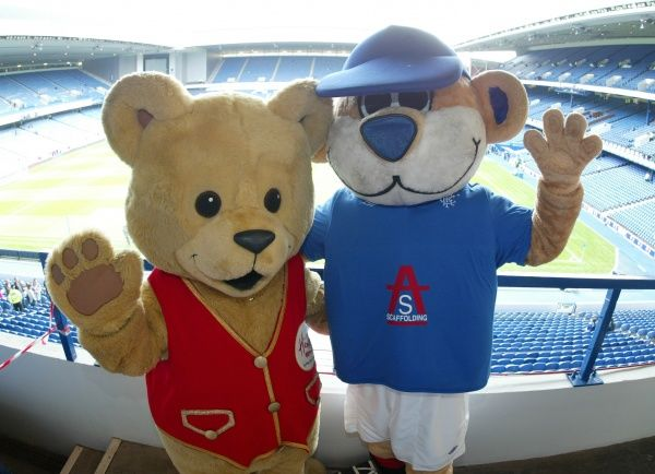 Rangers' Broxi Bear and the Hamleys Bear