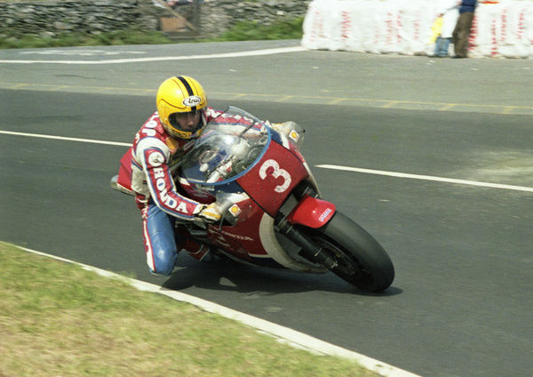 Joey Dunlop (Honda) at Creg ny Baa: 1983 Formula One TT