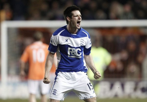 Birmingham City's Scott Dann celebrates scoring their second goal