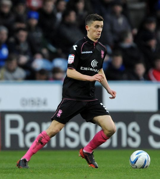 Birmingham City's Callum Reilly during the npower Football League Championship match at the John Smith's Stadium, Huddersfield
