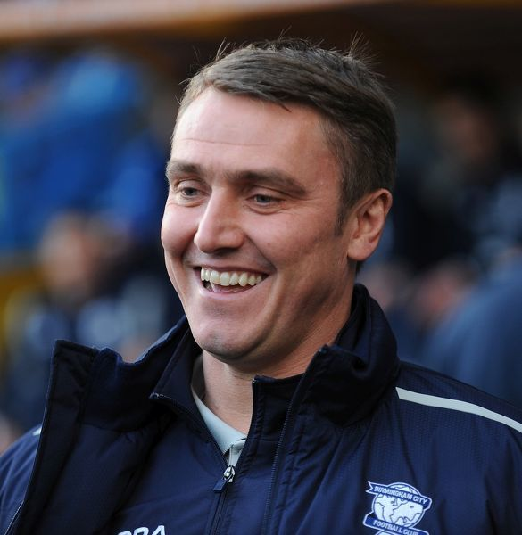 Birmingham City's Manager Lee Clarke during the npower Football League Championship match at the John Smith's Stadium, Huddersfield.or club/league logos