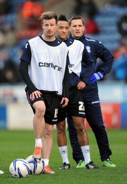 Birmingham City's Wade Elliott during the warm up