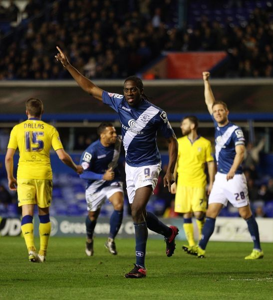 Birmingham City's Clayton Donaldson celebrates scoring their first goal