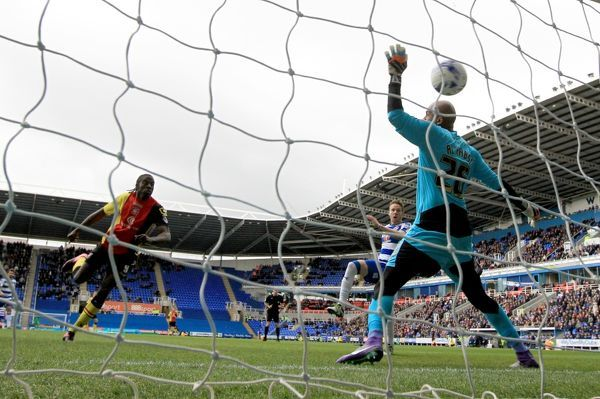 Birmingham City's Clayton Donaldson scores his side's first goal of the game