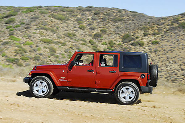 Jeep Wrangler Unlimited Sahara 4x4 2009 Orange