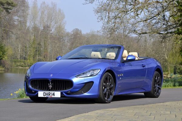 Maserati Grancabrio Sport 2013 Blue Photo Prints 11484702