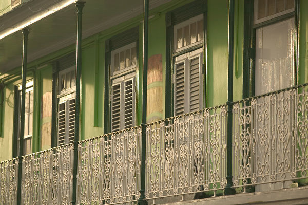 BARBADOS, Bridgetown, Ornamental Balcony, James Street