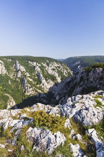 The gorge of Zadiel in the slovak karst. The gorge was created by the collapsing of several caves