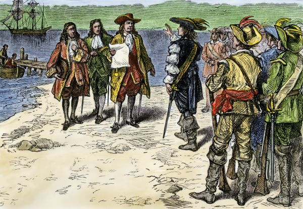 Colonial Governor Andros arriving in Connecticut, 1687 #5877693