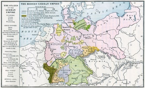 Germany before world war i map of the german empire before world map of the german empire before world war i circa 1912 printed color lithograph gumiabroncs Gallery
