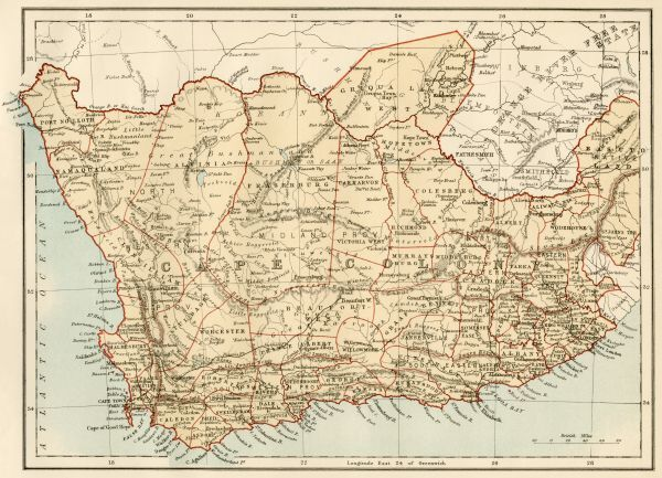 19th Century Africa Map.Prints Of Map Of Cape Colony South Africa 5876533