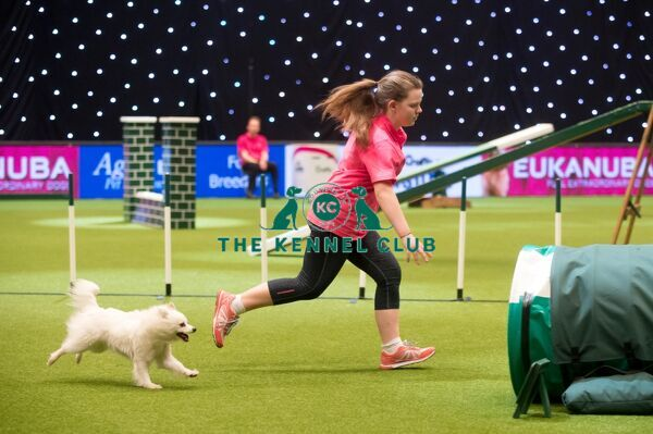 Agility YKC Winner Holly Ryan with Abbicher Dreaming