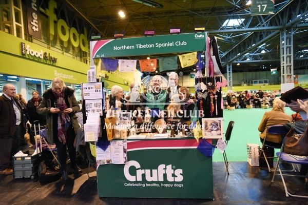 2:30pm   Best breed club stand - Northern Tibetian Spaniel Club, Utility Group.   Winners: Valerie Poyser, Paul Stone, Jane Allman   Dogs: Sophie and Megan