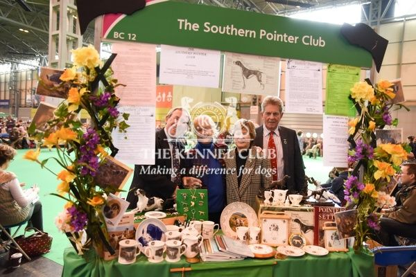 1:45pm: Best of Breed Stand - Gundog   Winning stand: The Southern Pointer Club   Winners: Valerie Clare (Treasurer), Veronica Parsons (Secretary)   Judges: Steve Dean and Wilson Young