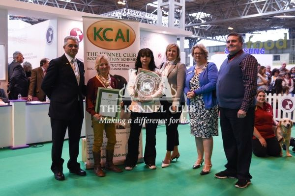 12:30pm: KCAI Trainer of the Year Award Ceremony.   In photo:   Winner - Jane Ardern;   Finalist - Barry Harris