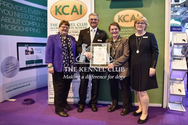 3pm: KCAI accreditation presentations on the KCAI stand.   In photo: Diane Jones