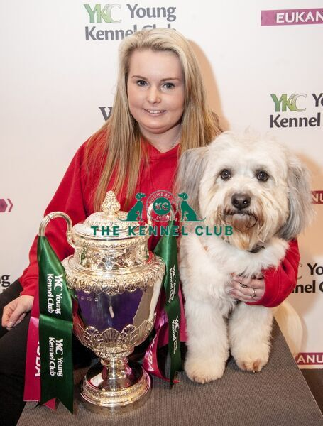 Picture shows YKC Ring - Agility 18-24 years winner Aimee Bingham (20) and her dog Dylon from Plymouth (Thursday 10.03.16), the first day of Crufts 2016, at the NEC Birmingham