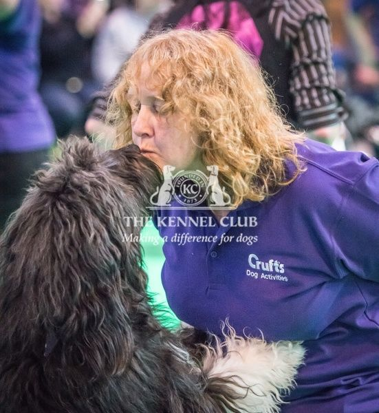 Gill with her dog Goose take part in the Heelwork to Music display in the Dog Activities Ring during Day 2 of Crufts 2016