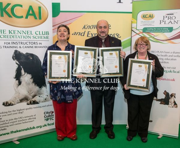 Photo Call KCAI Accreditation Certificate all three together