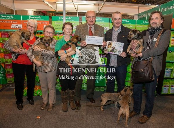 Photo call - Presntation of cheques Border Terrier Welfare Rescue from Freewells