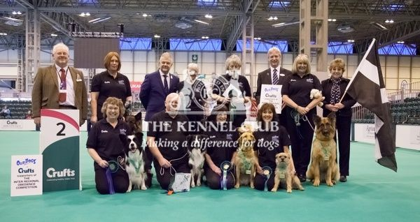 Photocall obedience Inter regional teams