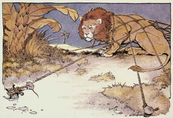 Aesops Fable Of The Lion And The Mouse 8857151 Framed Prints