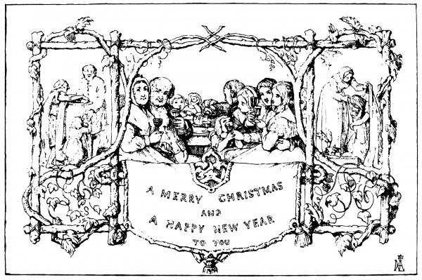 christmas card 1843 the first christmas card designed for sir