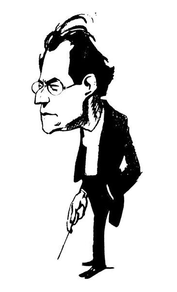 GUSTAV MAHLER (1860-1911).  Austrian composer and conductor. Caricature