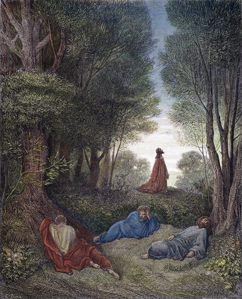 Jesus prays in the garden of gethsemane as the apostles sleep matthew 26 39 photo prints Jesus praying in the garden of gethsemane