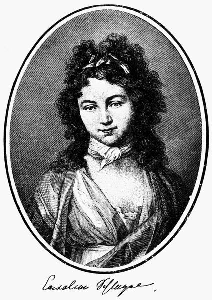 KAROLINE MICHAELIS  (1763-1809). German writer and hostess. Wife of August Wilhelm von Schlegel (1796-1803) and Friedrich Wilhelm Joseph von Schelling (1803-1809). Line and stipple engraving