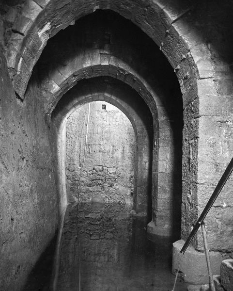 POOL OF BETHESDA.  The Pool of Bethesda in Jerusalem. Photograph, early 20th century