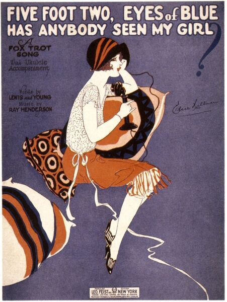 SONG SHEET COVER, 1925.  'Five Foot Two, Eyes of Blue' Foxtrot: American song sheet cover, 1925
