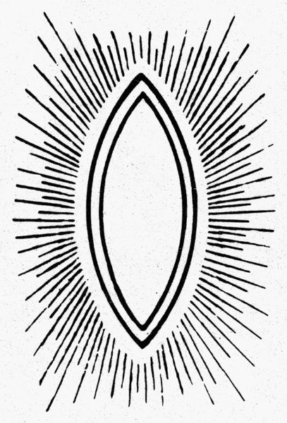 Symbol Vesica Piscis Used In Christian Medieval Art To Frame A