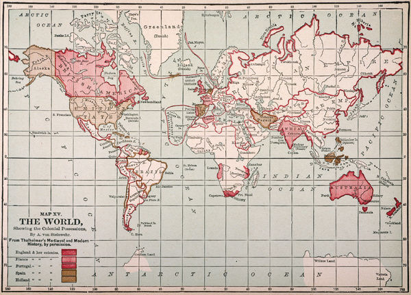 World map colonies world map showing the colonial possessions of world map colonies world map showing the colonial possessions of england france gumiabroncs Choice Image