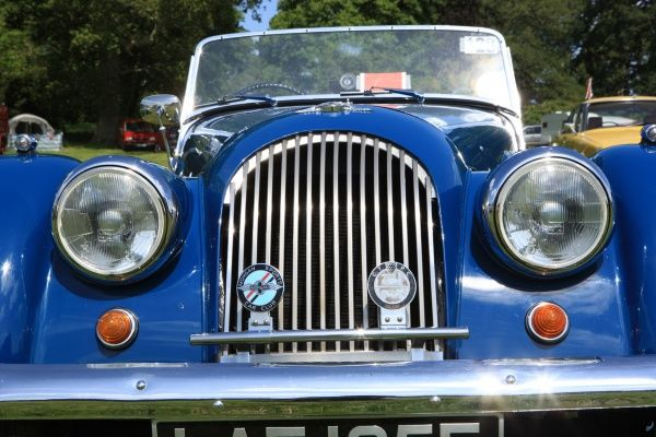 A Riley at The Classic car show Boconnoc Estate near Lostwithiel Cornwall in August 2012