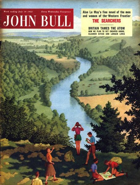 John Bull 1955 1950s UK outdoors rivers countryside ramblers hiking magazines hikers