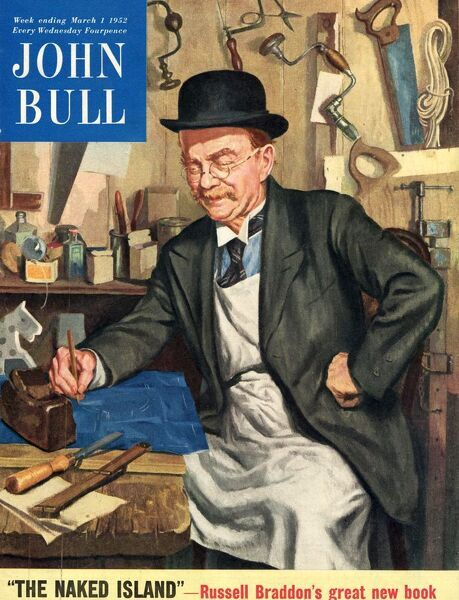 John bull 1956 1950s UK carpenters, capentry, diy magazines do it yourself