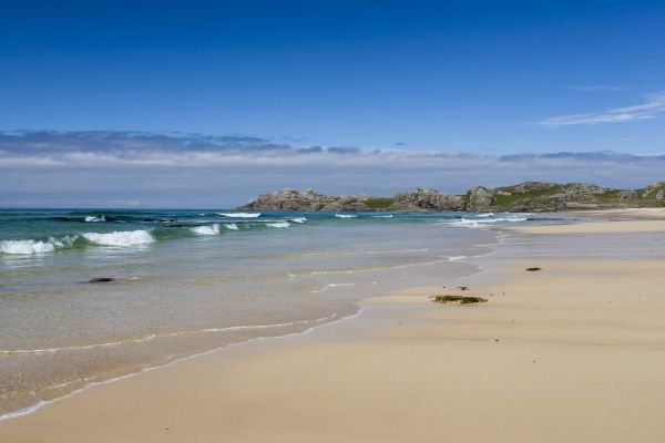 The large sandy beach at Hogh Bay in Coll, Argyll & Bute, Scotland