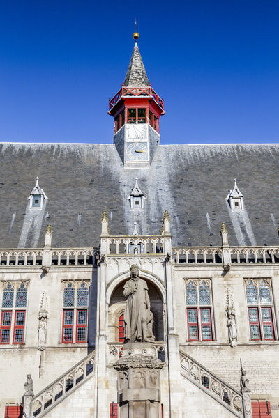 The Town Hall in Damme, Belgium. This is in the West Flanders province of Belgium