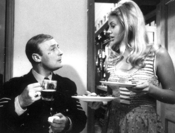 Edward Woodward as sergeant Howie and Britt Ekland as Willow in a scene from Robin Hardy's The Wicker Man