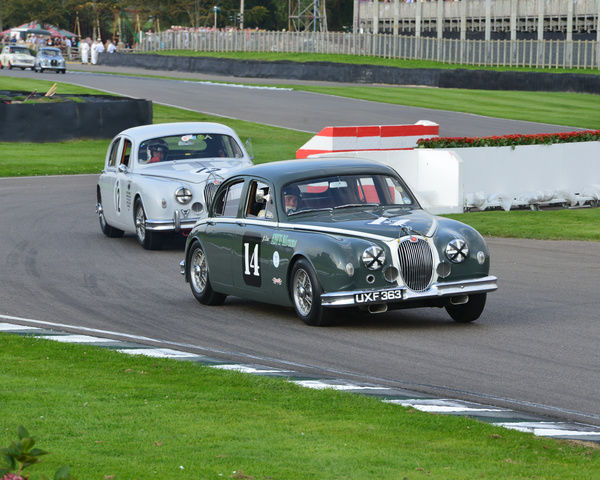 CJ5 5499 Justin Law, Anthony Reid, Jaguar Mk 1, UXF 363