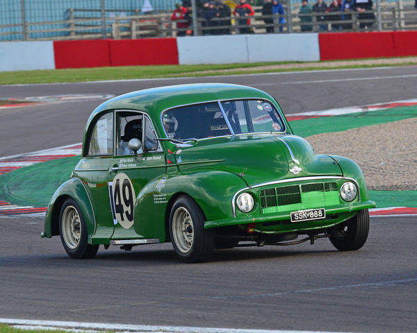 Paul Alcock, Mark Daniell, Morris Minor Lowlight, HRDC Touring Greats, pre-60 Touring cars, Invited TC63, Donington Historic Festival, May 2019, motor racing, motor sport, motorsport, Nostalgia, racing, racing cars, retro, cars