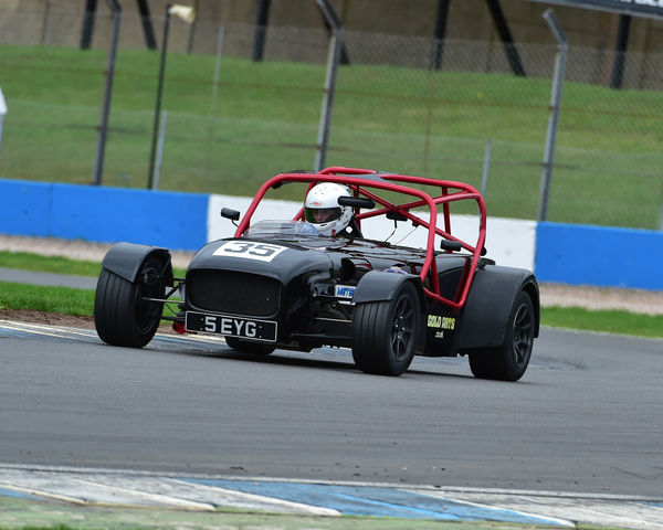 Charles Holroyd, Caterham CSR 2300, Magnificent Sevens, Classic Sports Car Club, CSCC, Late Summer race Meeting, Donington Park, Sunday, 4th September, 2016, circuit racing, cars, saloons, sports cars, motorsport, autosport, cars, racing competition