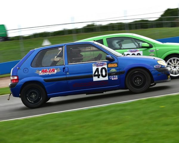 Ian Collins, Simon Smith, Citroen Saxo VTS, Tin Tops, Classic Sports Car Club, CSCC, Late Summer race Meeting, Donington Park, Sunday, 4th September, 2016, circuit racing, cars, saloons, sports cars, motorsport, autosport, cars, racing competition