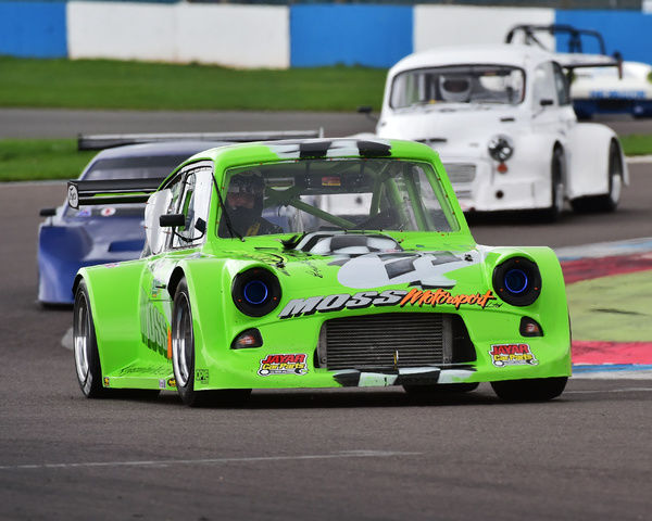 Steven Moss, Ford Anglia Spaceframe, Special Saloons and Modsports, Classic Sports Car Club, CSCC, Late Summer race Meeting, Donington Park, Sunday, 4th September, 2016, circuit racing, cars, saloons, sports cars, motorsport, autosport, cars