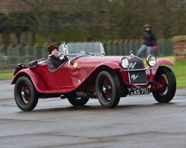 CM17 3390 Miss Alex Pilkington, Alfa Romeo 6C 1750