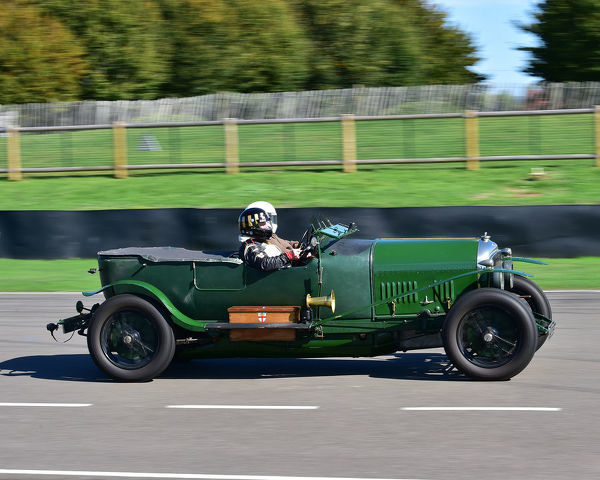 Philip Strickland, Bentley VDP Long Chassis 3 Litre Tourer, Mission Motorsport, Race Retrain, Recover, Goodwood, Monday 24th September 2018, fast cars, cars, vehicles, Track, racing cars, sports cars, classic cars, touring cars