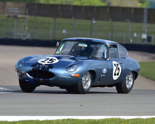 John Burton, Jaguar E-Type, Jaguar Classic Challenge, pre-66 Jaguar Cars, Donington Historic Festival, May 2019, motor racing, motor sport, motorsport, Nostalgia, racing, racing cars, retro, cars, classic cars, classic event, Classic Racing Cars