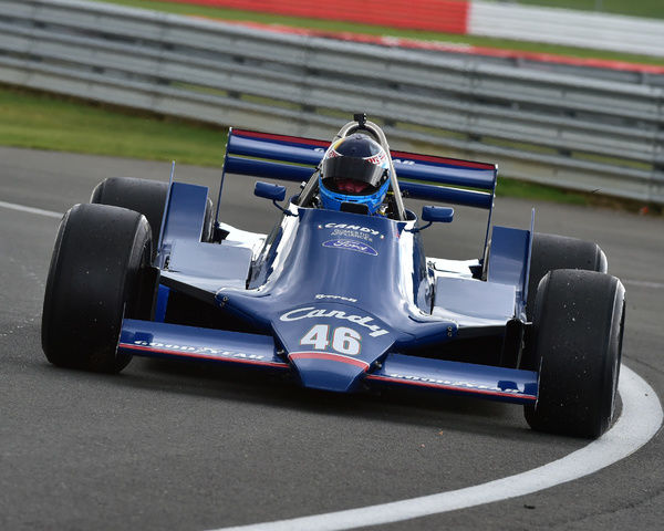 Peter Williams, Tyrrell 090, FIA Masters, Historic Formula One, Silverstone Classic 2015, Chris McEvoy, circuit racing, cjm-photography, Classic Racing Cars, FIA, FIA Masters, Formula 1, Formula One, Historic Formula One, historic racing cars