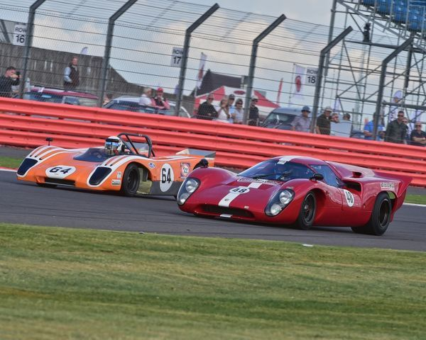Ollie Hancock, Anthony Hancock, Lola T212, Daniel Gibson, Broadley Lola T70 Mk3B, FIA, Masters Historic Sports Cars, Silverstone Classic 2015, cars, Chris McEvoy, circuit racing, cjm-photography, classic cars, Classic Racing Cars, classics, historic cars